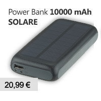 caricabatterie power bank solare 10000mAh smartphone iphone