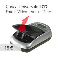 caricabatterie universale LCD foto video